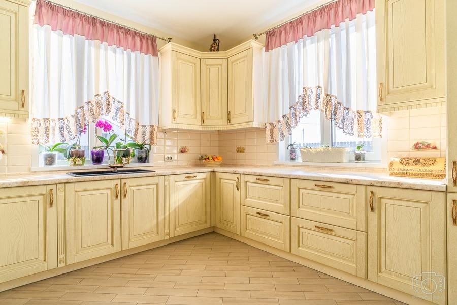 Бежевые кухни-Кухня из шпона «Модель 3»-фото4
