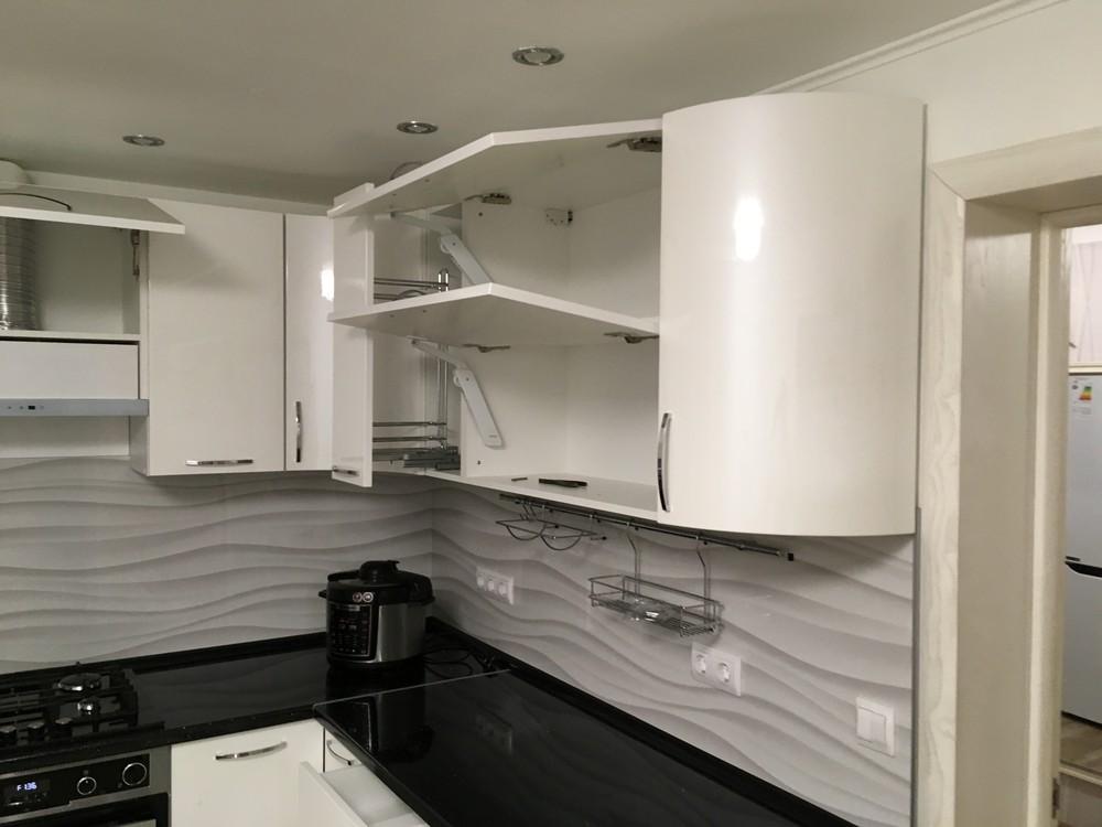 Белый кухонный гарнитур-Кухня МДФ в ПВХ «Модель 311»-фото10