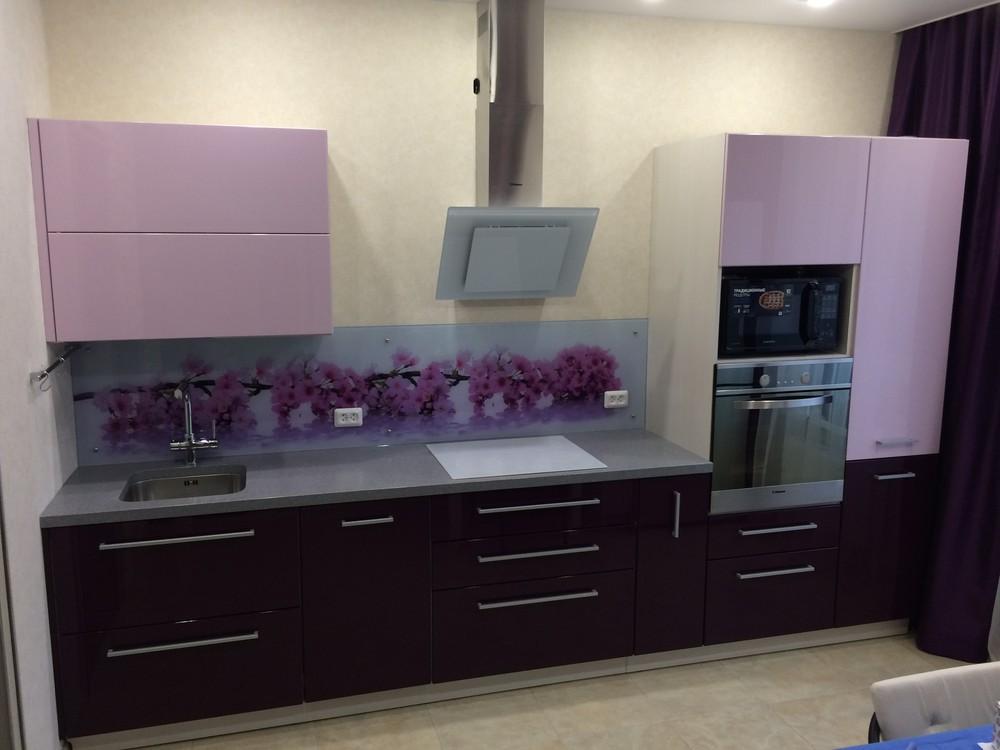 Акриловые кухни-Кухня из пластика «Модель 110»-фото1
