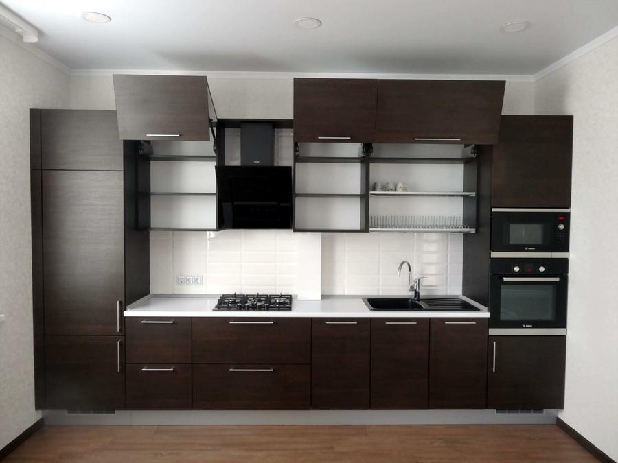 Встроенная кухня-Кухня из пластика «Модель 188»-фото2