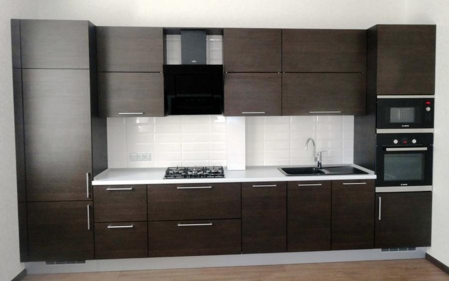 Встроенная кухня-Кухня из пластика «Модель 188»-фото1