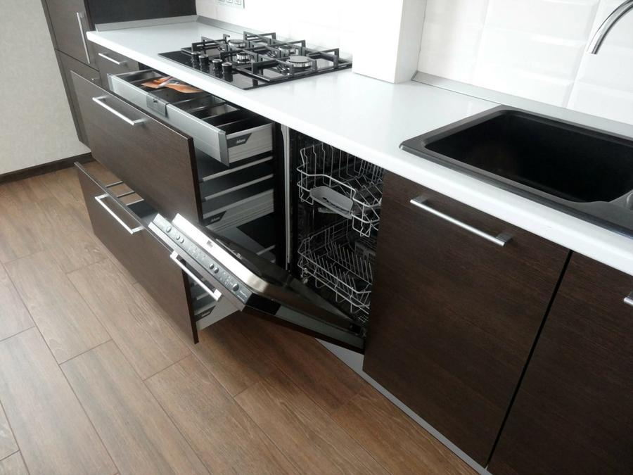 Встроенная кухня-Кухня из пластика «Модель 188»-фото6