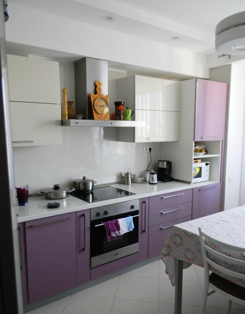 Встроенная кухня-Кухня МДФ в ПВХ «Модель 238»-фото1