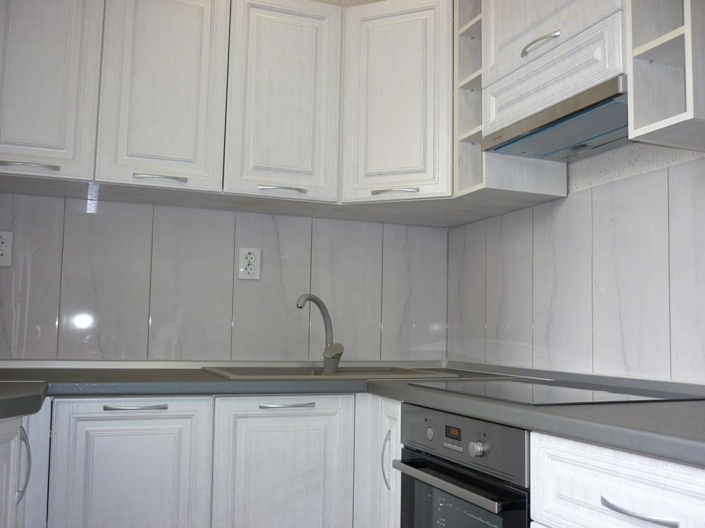 Белый кухонный гарнитур-Кухня МДФ в ПВХ «Модель 249»-фото4