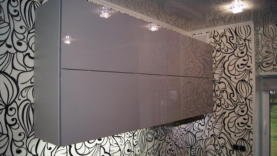Глянцевые кухни-Кухня МДФ в эмали «Модель 285»-фото5