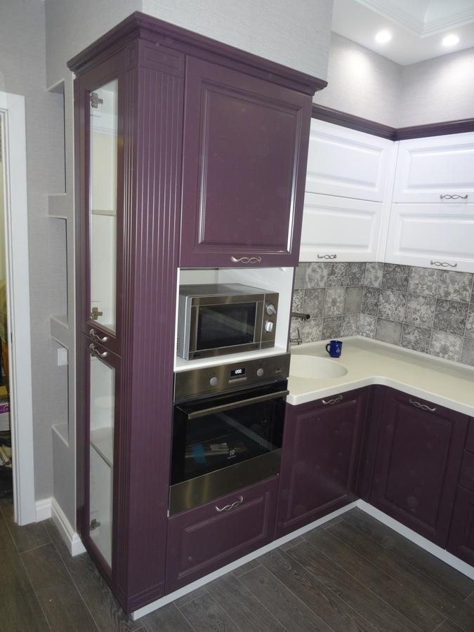 Классические кухни-Кухня МДФ в ПВХ «Модель 518»-фото2