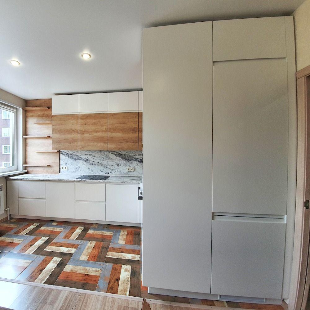 Белый кухонный гарнитур-Кухня МДФ в эмали «Модель 526»-фото2