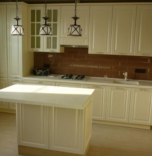Белый кухонный гарнитур-Кухня МДФ в эмали «Модель 308»-фото3