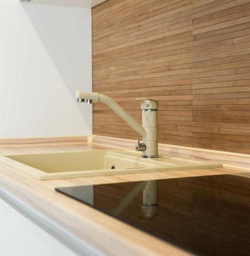 Белый кухонный гарнитур-Кухня МДФ в эмали «Модель 5»-фото10