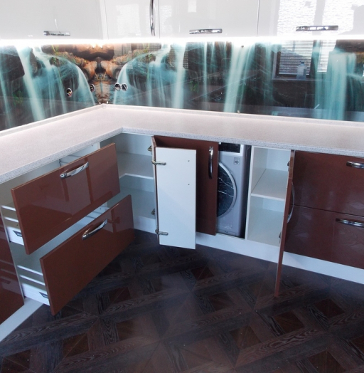 -Кухня из шпона «Модель 14»-фото11