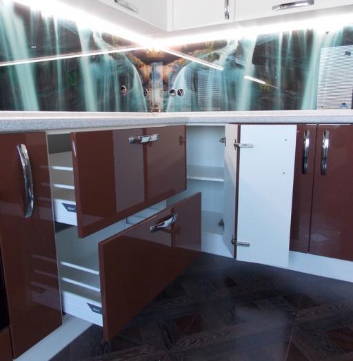 Белый кухонный гарнитур-Кухня из шпона «Модель 14»-фото5